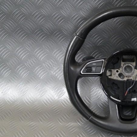 Leather steering wheel...